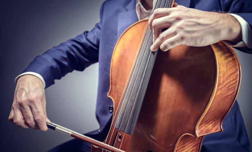 Cello player practising vibrato techniques.