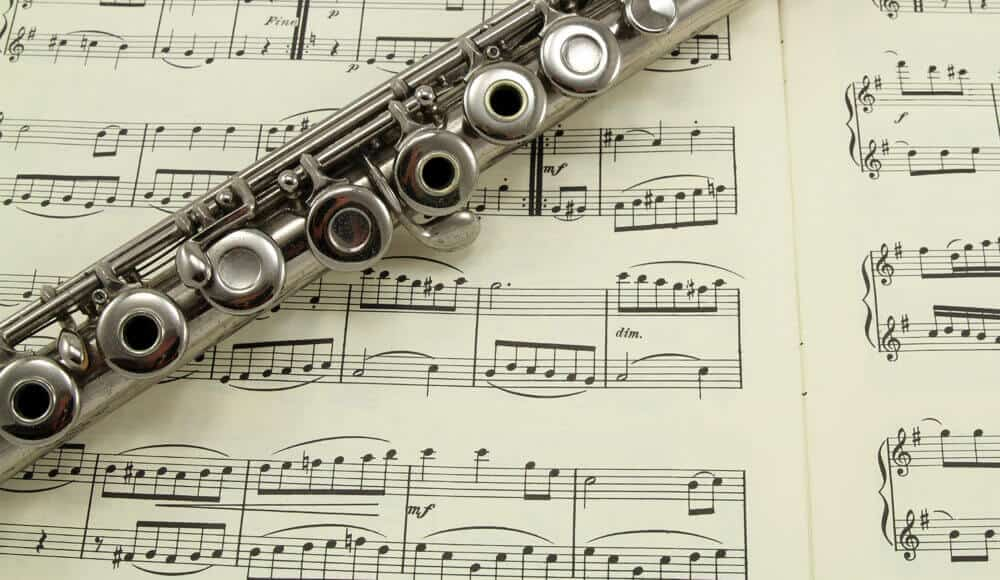 Learning and reading the flute scales.