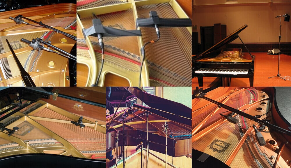 Different methods and techniques on miking and recording live grand piano playing.
