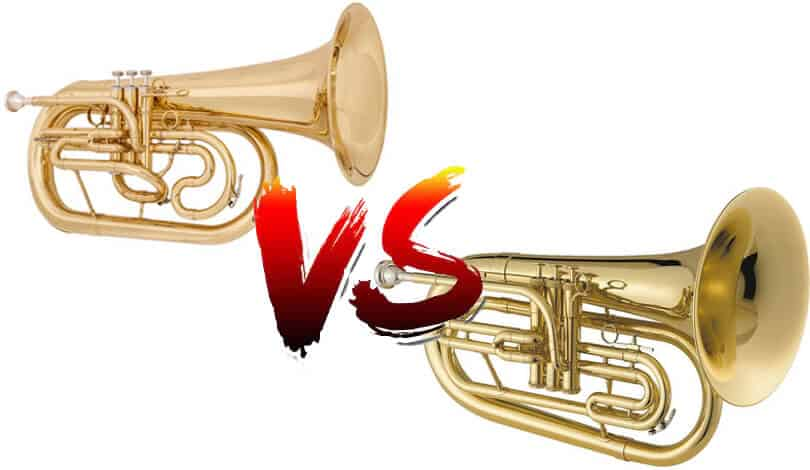 Differences between marching baritone and euphonium.